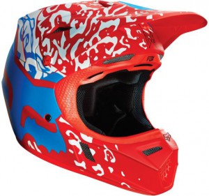 Pánská MX helma Fox Racing V3 Cauz Helmet Red